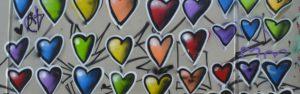 נראה עבודות גרפיטי של האמנים: כיס-לב (Kis-lev), ורד דרור, #tag, יגאל שתיים, pardesart